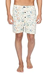 Nuteez Stamp Printed Boxers For Men