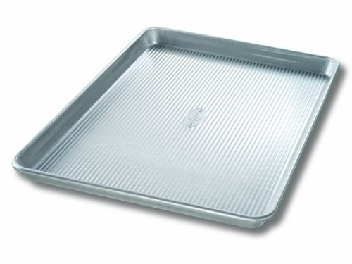 USA Pan Bakeware Extra Large Sheet Pan, Warp Resistant Nonstick Baking Pan, Made in the USA from Aluminized Steel (Usa Muffin Pan compare prices)