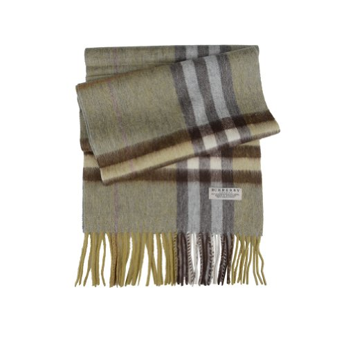 Burberry  Burberry London Multi-Color Wool Cashmere Giant Check Fringed Scarf