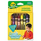 Beginnings Washable Triangular Crayons, Wax, 8/Box