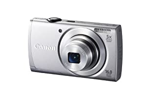 Canon PowerShot A2600 IS 16.0 MP Digital Camera with 5x Optical Zoom and 720p Full HD Video Recording (Silver)