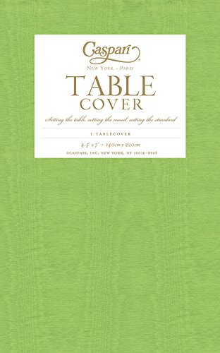 Caspari Moire Printed Paper Table Cover, 54 By 84-Inch, Lime front-1053702