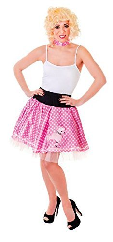 Poodle Skirt. Pink/White