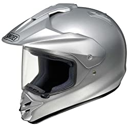 Shoei Metallic Hornet DS Dirt Bike Motorcycle Helmet - Light Silver