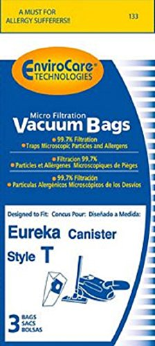 Eureka Canister Vacuum 970A, 970 Series Type T Bags 3 Pk Generic Part # 133 (Eureka Vacuum Bags Rally 2 compare prices)