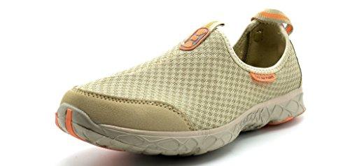 Dream Pairs 151009-M Men's Summer Mesh Light Weight Flexible Athletic Easy Walking Slip On Sport Water Swim Shoes KHAKI-ORANGE-SZ-7