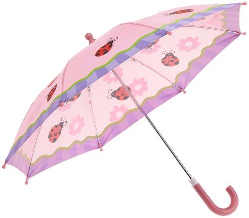 Stephen Joseph Little Girls' Ladybug Rain Umbrella,Petal Pink,One Size front-1046444