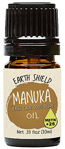 Earth Shield Manuka Oil is 100% pure and Therapeutic Grade MBTK+25. Harvested and distilled in New Zealand East Cape. (10ml)