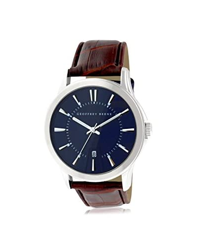 Geoffrey Beene Men's GB8070SLBNNV Brown/Blue Leather Watch