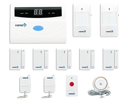 Fortress Security Store (TM) S02-A Wireless Home and Business Security Alarm System DIY Kit with Auto Dial, Motion Detectors, Panic Button and More for Complete Security (Wi Fi Alarm System compare prices)