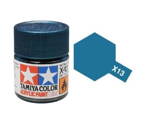 Tamiya Models X-13 Mini Acrylic Paint, Metallic Blue - 1