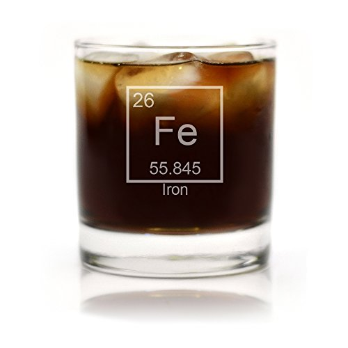 Iron Periodic Table of Elements Engraved Cocktail Glass (Iron Glass compare prices)