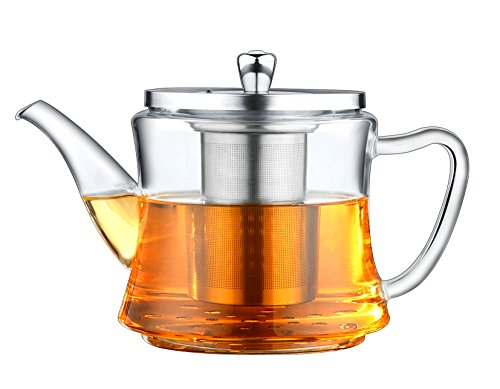 Multifunctional Glass Teapot: For Making Tea and Boiling Tea, Applicable for Electromagnetic Oven, Gas Stove, Electric Ceramic Cooker and Lightwave Oven (Light Wave Stove compare prices)