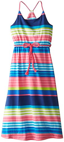 The Children's Place Little Girls' Stripe Maxi Dress, Super Royal, Small/5-6