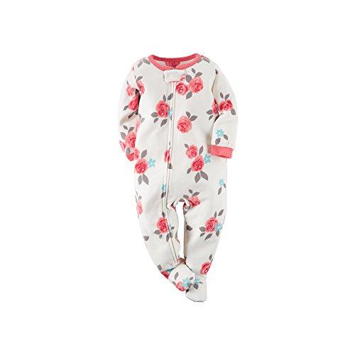Carter's Little Girls' 1-Piece Fleece Footed Blanket Sleeper Pajamas (3T, Pink Rose)