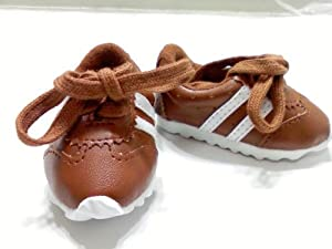 "Girl Scout Brownie Uniform Brown Striped Tennis Shoes Fits 18"" American Girl Dolls"