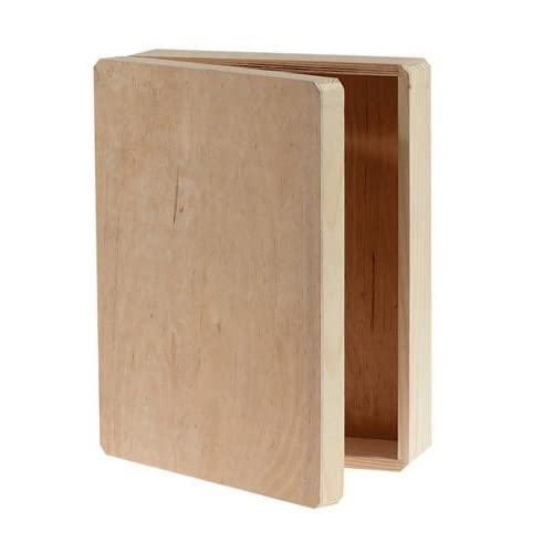Unfinished Wood Hinged Boxes
