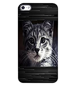 ColourCraft Cat Look Design Back Case Cover for APPLE IPHONE 4