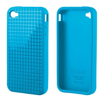 Speck SPK-A0011 PixelSkin HD TPU Case for iPhone 4/4S, AT&T and Verizon, 1-Pack (Blue)