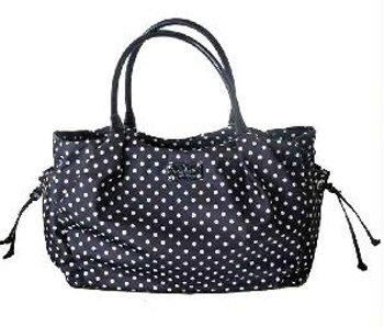 Kate Spade Black Spot Nylon Stevie Baby Bag front-467510