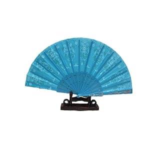 実用的な女性用扇子(せんす)・舞扇子・表演扇子・踊り扇子 (水色)