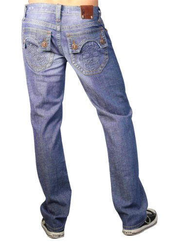 Laguna Beach - Huntington Beach Mens Designer Jeans, lightblue men 33