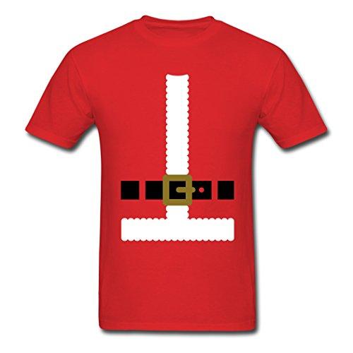 [Dachau Pumpkin Men's Santa Claus Suit T-Shirts Red XXL] (Xxl Santa Suits For Sale)