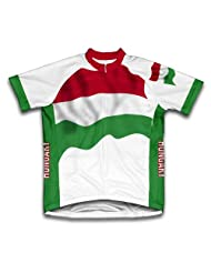 Hungary Flag Short Sleeve Cycling Jersey for Women