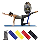 Exercise Resistance Loop,Pilates Resistance Band, Resistance Loop Bands , Fitness Loop, Heavy Duty Exercise Bands for Legs,Physio Strength Training for Workout Physical Therapy,Yoga,Rehab,Set of 4