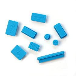 12pcs Anti-dust Silicone Plugs Cover Set for Retina Macbook Pro Retina 11 13 15 Blue