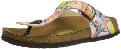 Papillio by Birkenstock Gizeh, Unisex-Child Sandals, Vanilla Flower Orange, 3 UK (36 EU)