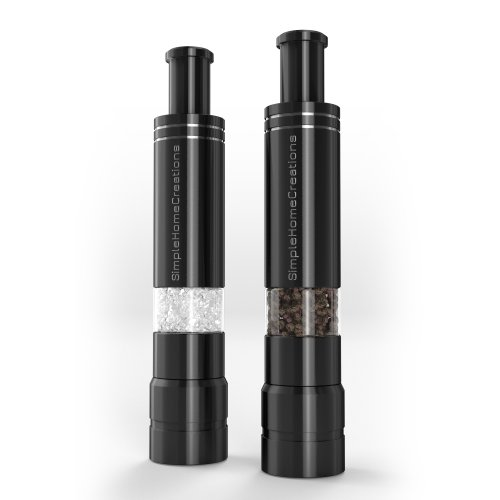 Salt grinder and pepper mill made from durable stainless steel unique modern - Novelty pepper grinder ...