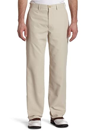 Callaway Men's Flat Front Solid Pant (Silver Lining, 38 x 30)