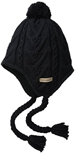 Columbia Adult Parallel Peak II Peruvian Hat, Black, One Size (Adult Hats)