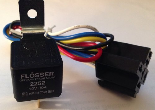 Flosser Relay 12Volt 30Amp & 12Vdc 5-Pin Relay Socket