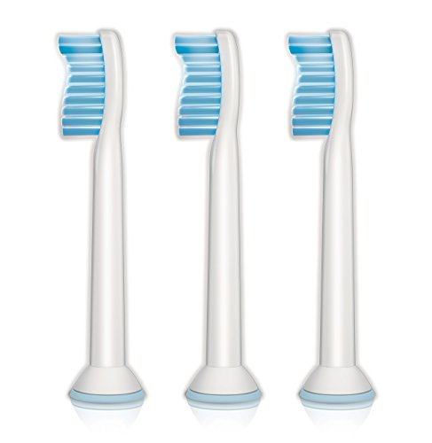 Philips Sonicare Sensitive replacement toothbrush heads for sensitive teeth, HX6053/64, 3-pk (Brush Heads Sonicare compare prices)
