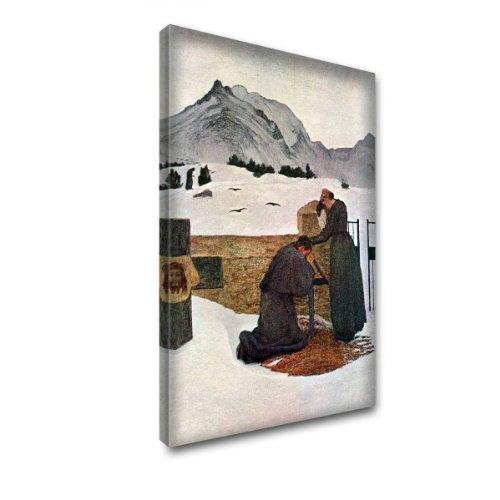 """""""The Pain Of Mourning"""" by Segantini, Images sur Toile Tableau Canvas Art Print Impression sur Toile Encadrée. Taille 16"""" x 24"""" - 40 x 61 cm."""