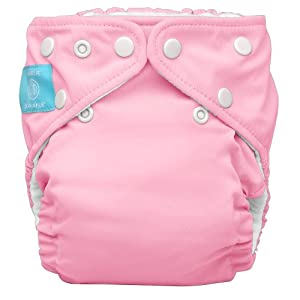 Charlie Banana 2 in 1 Eco-Friendly Hybrid Reusable Cloth Diaper - Large (Baby Pink)
