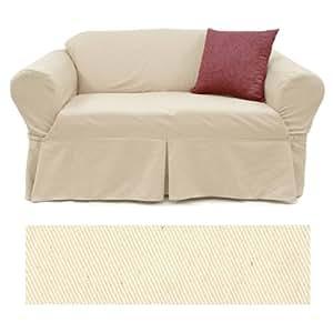 Amazon Solid Natural Furniture Slipcover Sofa 407