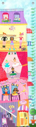 Oopsy Daisy Ballet Academy by Jill McDonald Growth Charts, 12 by 42-Inch