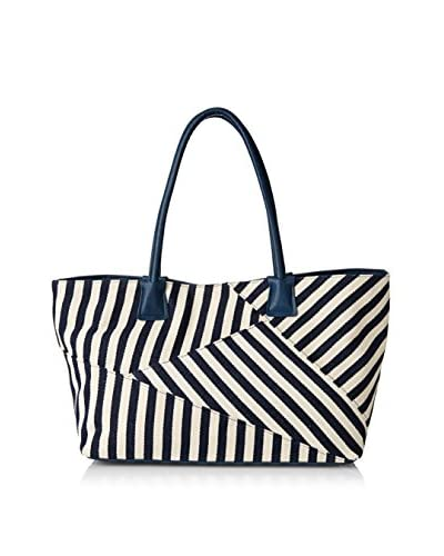 POVERTY FLATS by rian Women's Snap Tote, Navy