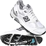 New Balance Women's W587 Running Shoe,White/Blue,9.5 EE