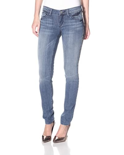 SOLD Design Lab Women's Soho Super Skinny Studded Jean  - Medium Wash