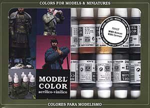 Model Color Paint Set - WWII German Colors