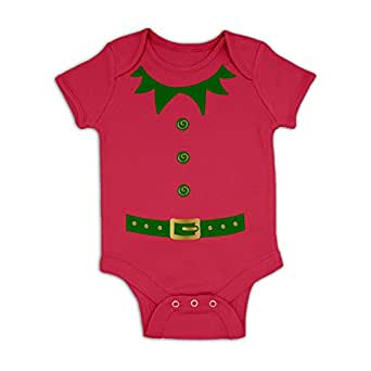 Elf Costume (Green Detail) Baby Grow
