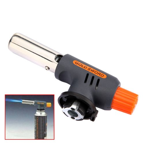 Gas Torch Butane Burner Flaming, caramelizing, browning,blistering a skinning, finishing foods for presentation and adding drama when serving Ignition Camping Welding Flamethrower (Kenmore Big Brush compare prices)