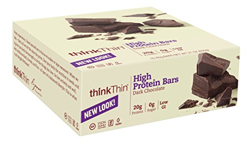 thinkThin High Protein, Dark Chocolate, 2.1 Ounce (Pack of 10)