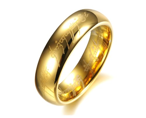 Asma Lord of the rings gold color ring for men: Amazon.in: Jewellery