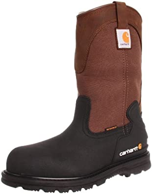 Carhartt Men's CMP1259 11 Mud Well ST Work Boot,Brown/Black Leather,8 M US