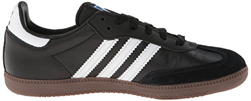 Adidas Originals Men's Samba Soccer-Inspired Sneaker,Black/White/Gum,4 M US
